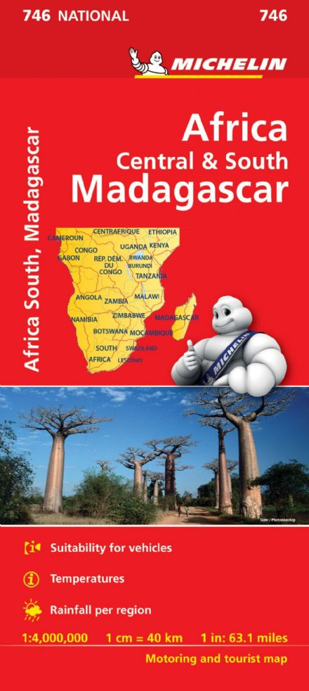 Africa Central & South incl Madagascar - Michelin National Map 746